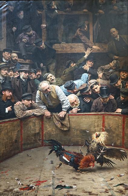 Le combat de coqs de Rémy Cogghe Mouscron
