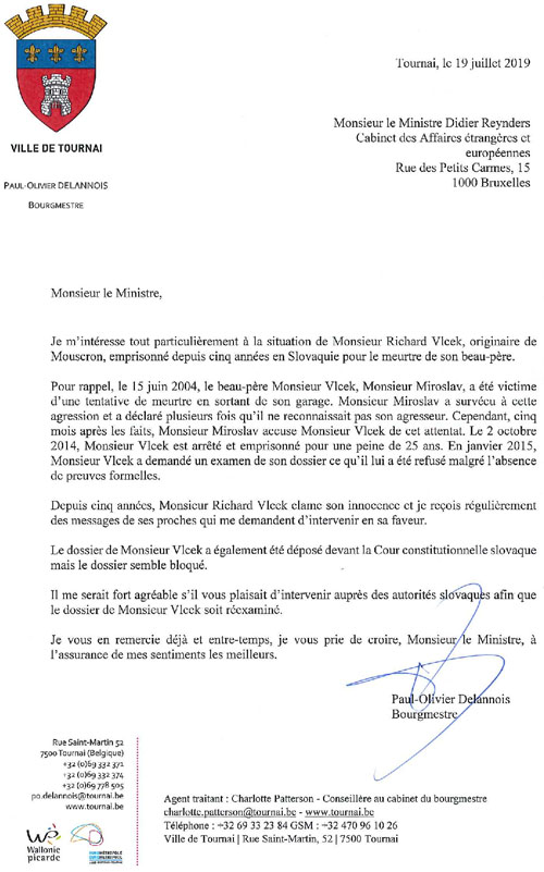 lettre Richard VLCEK