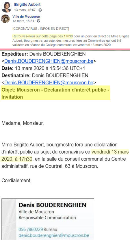 Aubert brigitte Bourgmestre de Mouscron